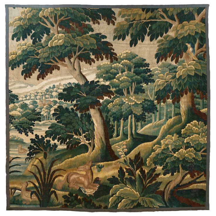 18th Century Aubusson Verdure Tapestry ~ with a charming Fox| From a unique collection of antique and modern tapestries at https://www.1stdibs.com/furniture/wall-decorations/tapestry/