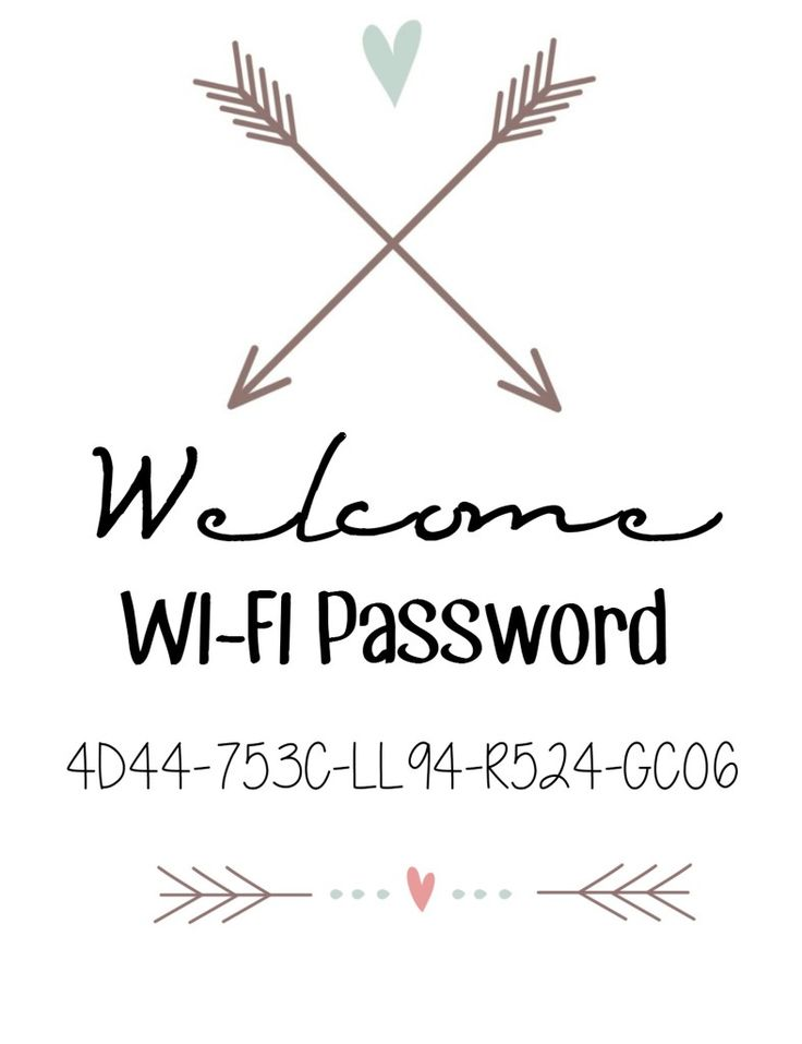 Free Wi-Fi Password Printable Project + A Giveaway for Unlimited Graphics - A Spark of Creativity