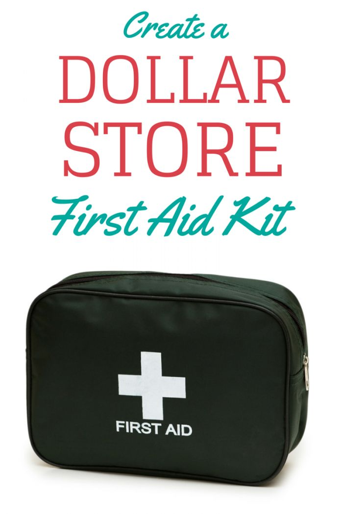 Make a first aid kit with dollar store items with this handy checklist. Create one BEFORE you need it so you have it in case of emergency!