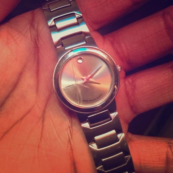 Movado watch Cracked face, battery needed. Not sure of the original price but these watches run from 400-1,000. Will still be cheaper even having to replace face. Movado Jewelry
