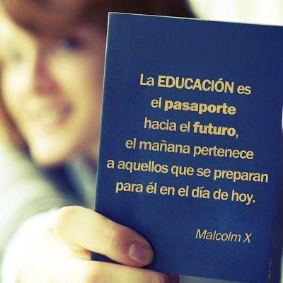 Frases de educación, Malcolm X