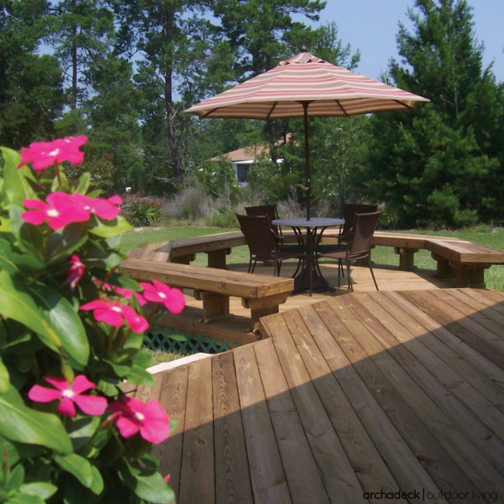 What exactly IS a platform deck?  Well, a platform deck is a rather simple structure that's designed and built just a few inches off the ground.  It is also referred to as a grade-level, ground-level, or low-level deck; patio deck or floating deck.  Whichever label you use, the hallmark of this design is a deck that's raised, ever-so-slightly, creating a structure to bridge-the-gap between your home and your backyard.