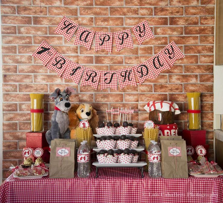 Lady and the Tramp Inspired Birthday Party Ideas   Photo 8 of 53