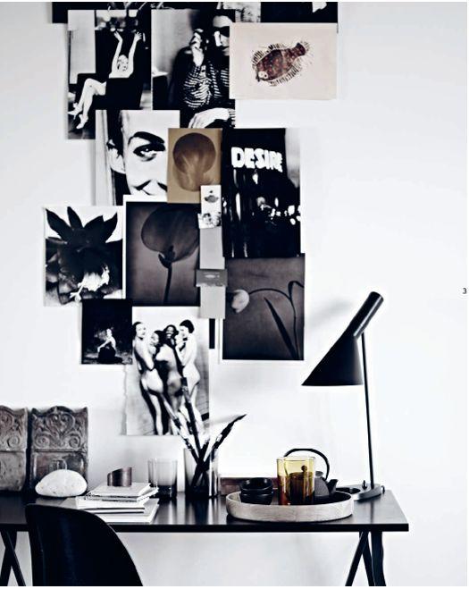 inspiration wall... cute little work area