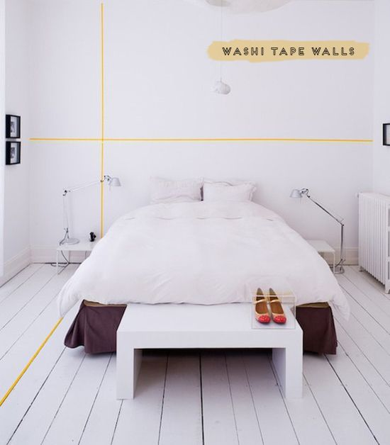 Washi tape walls | At Home in Love
