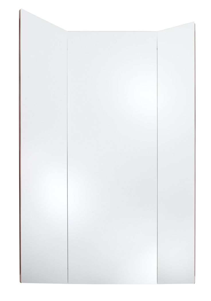 The Adonis is a wall mounted asymmetrical triptych dressing mirror. Designed by Gino Carollo in 2013. It closes to show off its rich American walnut exterior. H170 x 60/120w x 2d cm.