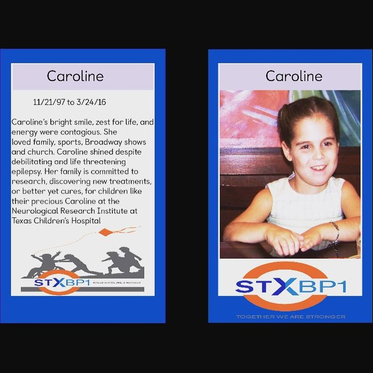 Caroline gained her angel wings on March 24, 2016. Her bright smile, zest for life, and energy were contagious. She loved family, sports, Broadway shows, and church. Caroline shined despite debilitating and life threatening epilepsy. Her family is committed to research, discovering new treatments, or better yet cures, for children like their precious Caroline at the Neurological Research Institute at Texas Children's Hospital. #stxbp1 #stxbp1angel #stxbp1strong #caroline #epilepsy…