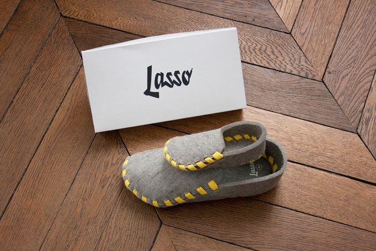 Kit Lasso comprenant une pantoufle adullte et une pantoufle enfant
