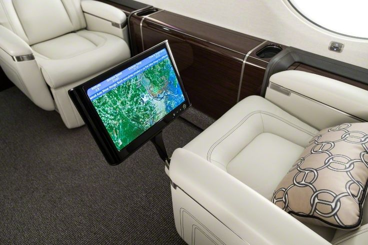 Track your flight while relaxing on board the G650ER.