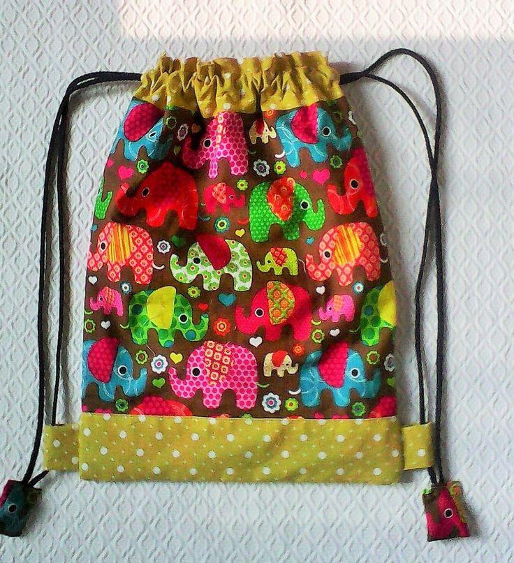 Petit sac a dos pour jeune enfant ou bébé ,sac a doudou , sac a gouter ,en coton imprimé de petits : Autres bébé par kate27