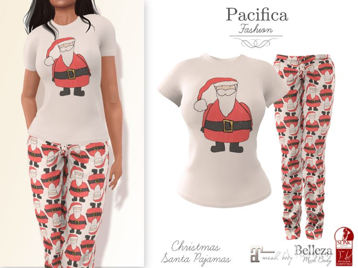 Relaxing in Pajamas, it's Christmas. The Christmas Santa Pajamas is perfect for that.