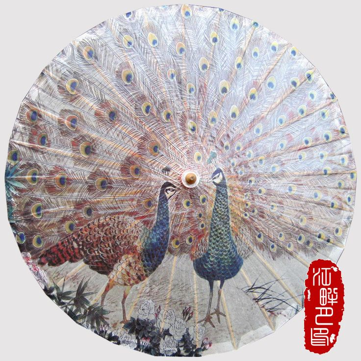 Cheap oil paper umbrella, Buy Quality paper umbrella directly from China parasols umbrellas Suppliers: Chinese Handmade Peacock Flaunting its Tail Oiled Paper Umbrella Cosplay Parasol Umbrella