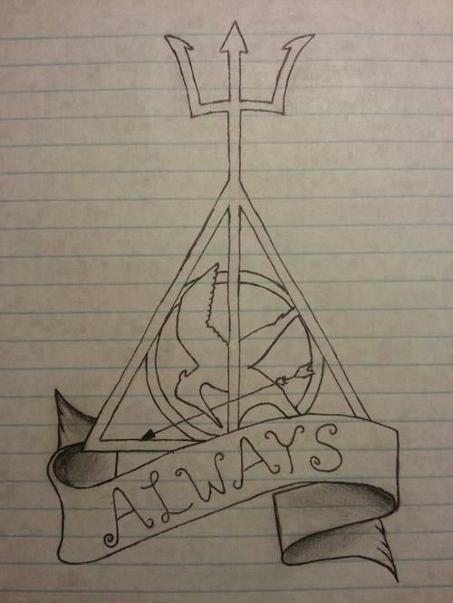 Percy Jackson, Harry Potter and The Hunger Games <3