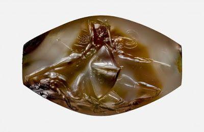 Ένας σφραγιδόλιθος σπάνιας ομορφιάς που ανακαλύφθηκε στην Πύλο μοιάζει βγαλμένος από τα ομηρικά έπη