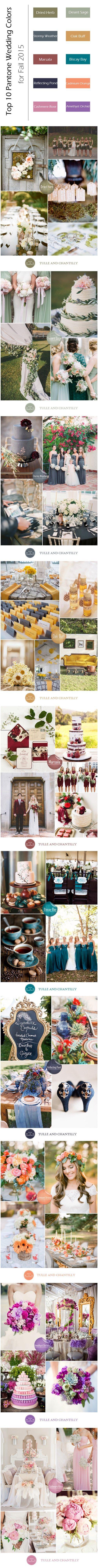 Fall wedding ideas - Top 10 Pantone Inspired Fall Wedding Colors 2015