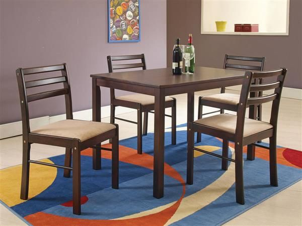 Parkwood Espresso Wood Pack Dining Table Set