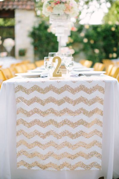 Sequin runner: http://www.stylemepretty.com/california-weddings/2015/02/22/glitter-and-gold-wedding-at-holman-ranch/ | Photography: This Love of Yours - http://thisloveofyours.com/