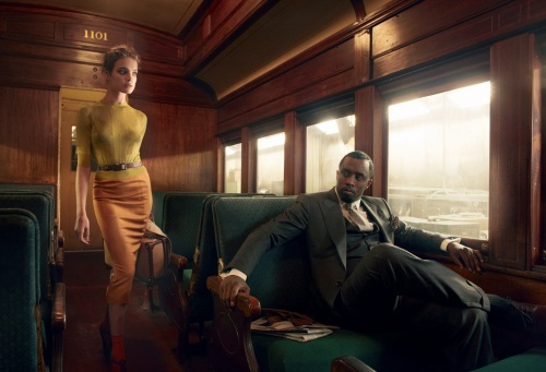 One of my favorite Vogue photoshoots ever. Sean Diddy Combs and Natalia Vodianova -- romance on a train. It's so well done and tells such a compelling story that it transcends fashion.     Link to slideshow: http://www.vogue.com/magazine/article/natalia-vodianova-and-sean-diddy-combs-brief-encounter/#1