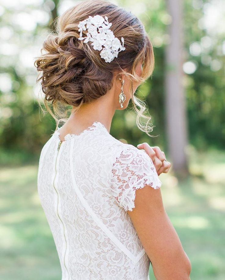 インスタで見つけた!海外のリアル花嫁に学ぶウエディングヘアアレンジまとめ♡にて紹介している画像