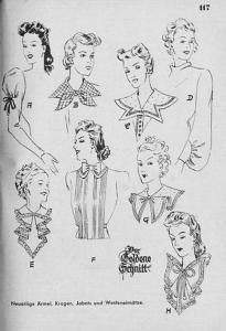 Sleeves and collars 1940-s