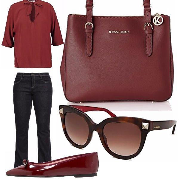 Il jeans, abbinato a una ballerina di vernice elegante rende il look adatto anche per una giornata di lavoro, oltre che per una passeggiata con le amiche.