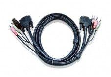 Aten 2L-7D03UD cordon KVM DVI/USB/Audio Dual Link - 3M