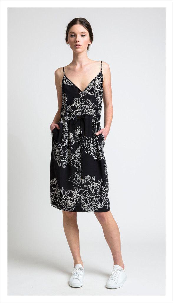 shadow slip, floral lines silk | juliette hogan