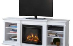 Awesome White Media Fireplace