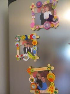 Make refridgerator picture frames for under $1. Inexpensive and easy gift for kids ages 4 to 10 years old. Mother's Day and Holiday gift-giving.