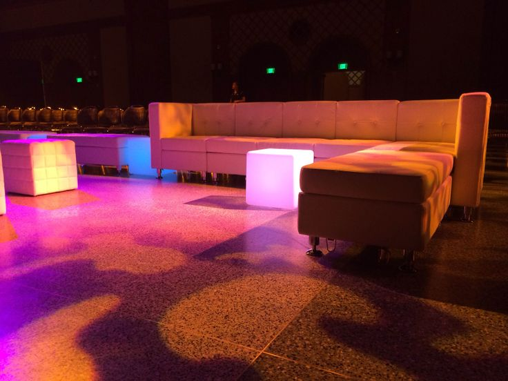 Elegant Promotional VIP lounge furniture rental with lighting effects Saturday night is almost here