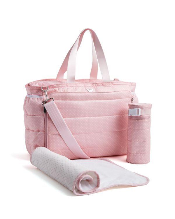Armani Padded Polka Dot Diaper Bag