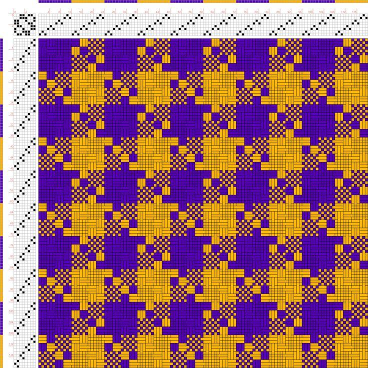 draft image: Figurierte Muster Pl. XXIX Nr. 15 (b), Die färbige Gewebemusterung, Franz Donat, 8S, 8T