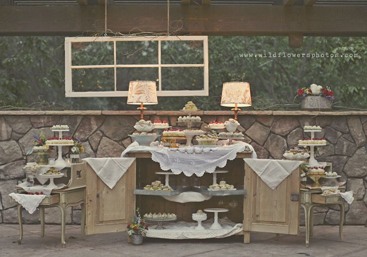 Dessert bar for sureeee! With pies and goodies. also, just a small cake