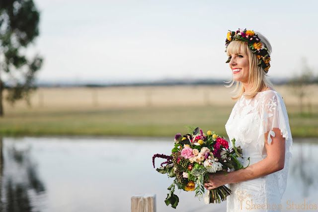 { Naomi Rose Floral Design } Boho wedding | Sheehan Studios Photography | Wedding | Tipi wedding | Flower crown