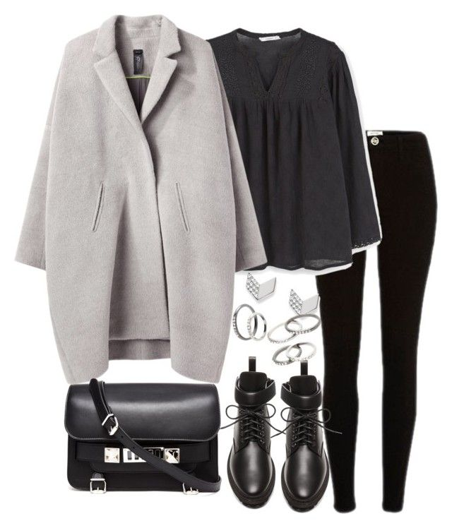 """Untitled #3162"" by theeuropeancloset ❤ liked on Polyvore featuring MANGO, Zero + Maria Cornejo, Balenciaga, FOSSIL and Proenza Schouler"