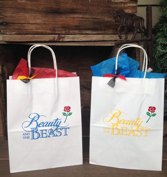 Beauty and the Beast Birthday custom Gift Bags 8 by TootYourHorn