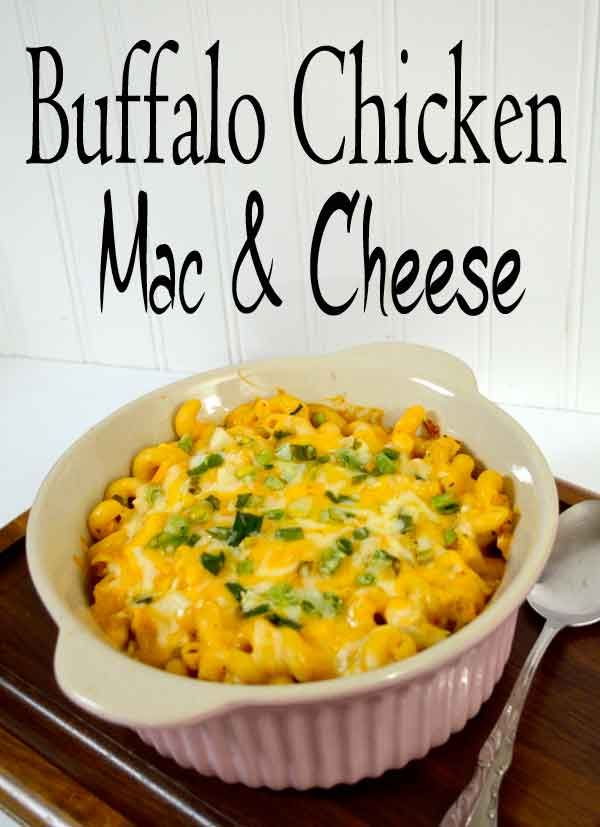 Buffalo Chicken Mac and Cheese!! Recipe!! Great for Tailgating or your Super Bowl get togethers!! #tailgaintin #superbowl #macandcheese
