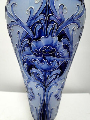 Stunning old Moorcroft Macintyre Florian Ware large vase - poppy design circa 1900