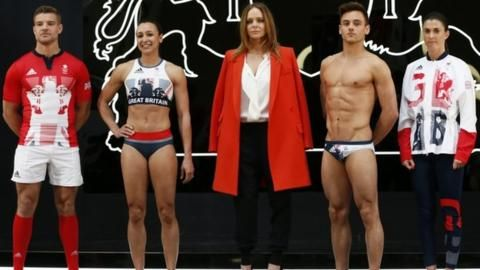 GB launch the kit or the Rio Games with Tom Mitchell, Jessica Ennis-Hill, Stella McCartney Tom Daley and Olivia Breen