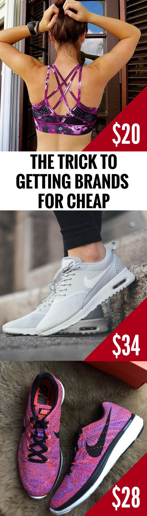 On a budget, but want to look on point? Now you can! Shop all your favorite brands and styles, like Nike, Lululemon, VS Pink and hundreds more, at Up to 70% off retail. Click to download the FREE app now! As featured in Cosmopolitan & Good Morning America.