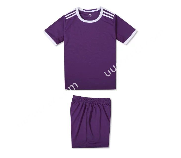 2016-17 Real Madrid Away Purple Kids/Youth Soccer Uniform Without Logo