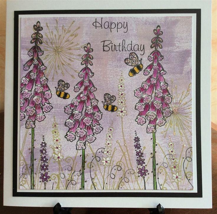 michele1 | docrafts.com Kay Carley stamps by Paperartsy. Happy Birthday Sadie.
