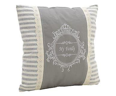 Cuscino arredo in misto cotone My Family, 45x45 cm