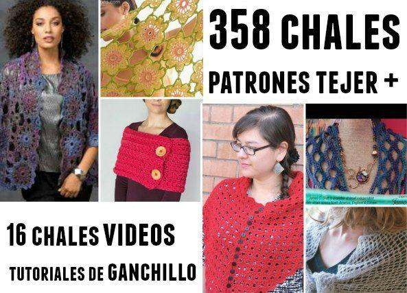 Mejores 274 imágenes de Chales o Echarpes a Crochet en Pinterest ...