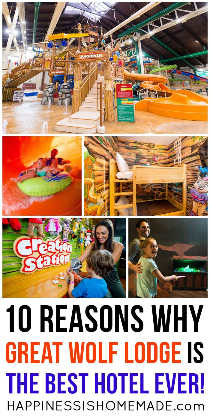 "Discover 10 reasons why our family considers Great Wolf Lodge to be ""The Best Hotel EVER!"" (Hint: it involves water slides, a magician's quest, dance parties, plush pets, and SO much more!)"