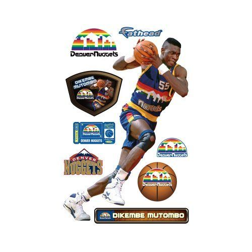 NBA Denver Nuggets Dikembe Mutombo Wall Graphic *** Details can be found by clicking on the image.