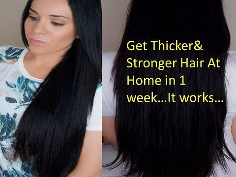 How to get Thicker hair,How to get LONG hair FAST: 1 inch in 1 week - YouTube