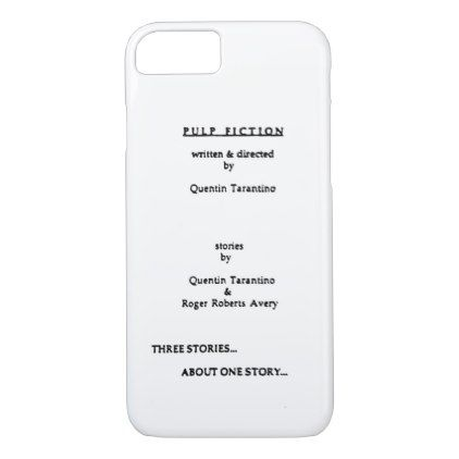 Pulp Fiction iPhone 8/7 Case - script gifts template templates diy customize personalize special
