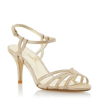 £39 - Roland Cartier Gold strappy mid heel sandal- at Debenhams.com