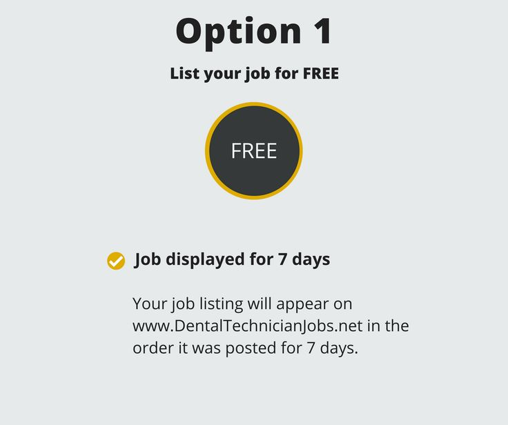 Looking for dental technicians? **Post your FREE job today**